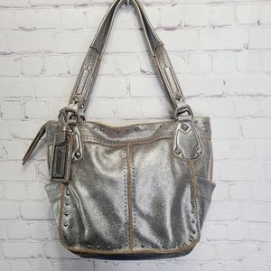 B. Makowsky metallic Soft Leather tote